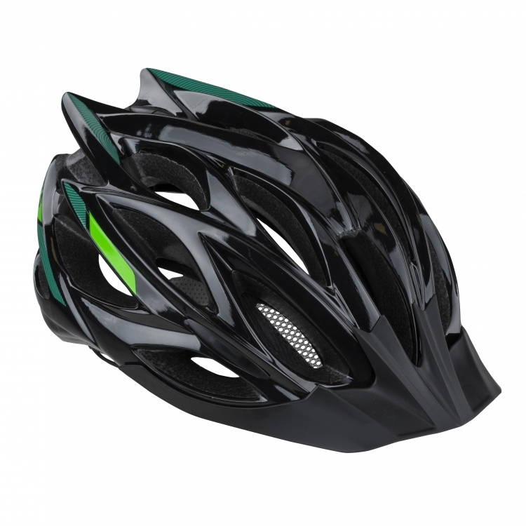 Kask dynamic 019 black-green s/m