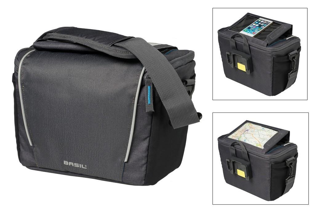 58807dd435aba BASIL Sport Design torba na kierownicę, 7 litrów, grafitowa (2019 ...